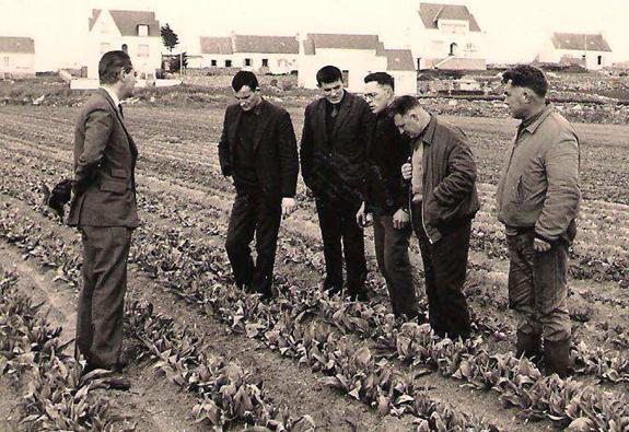 En 1967, Monsieur Perhirin remporte le concours « Village que j'aime ». Avec ses collègues du groupe de vulgarisation, il a travaillé sur le thème de l'évolution des cultures à Plozévet en développant la culture de la tulipe.