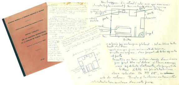 Notes de recherche et rapport d'enquête sur les conditions géographiques de la commune de Plozévet
