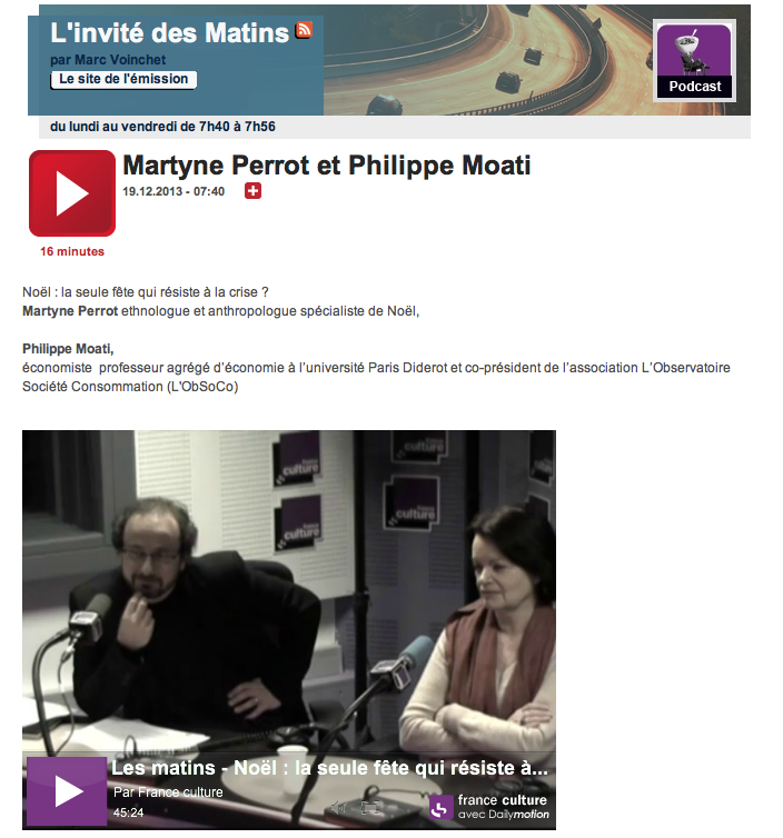 Martyne Perrot à France culture